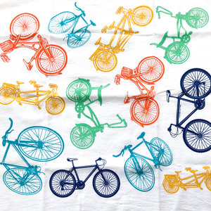 Counter Couture Tea Towel | Bikes