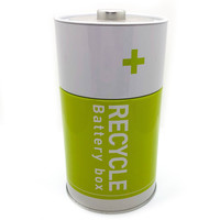 Monkey Business Tin Container   Battery Box Green