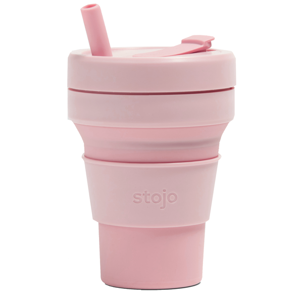 Stojo Collapsible Cup | 16oz | Carnation