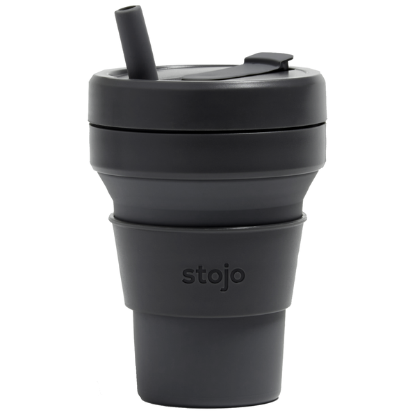 Stojo Collapsible Cup | 16oz | Carbon