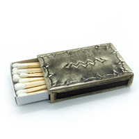 Stamped Silver Matchbox Cover | Small