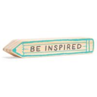 Compendium Wood Sign | Mini | Be Inspired