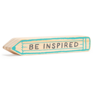 Compendium Wood Sign | Mini | Be Inspired