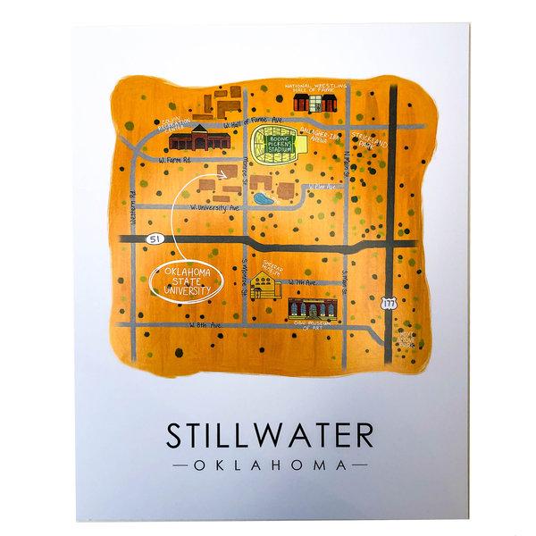 Sugar Mint Art Print   OK Map   Stillwater