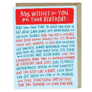 Emily McDowell Card | Bday Wishes