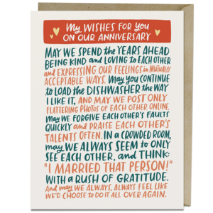 Emily McDowell Card | Anniversary Wishes