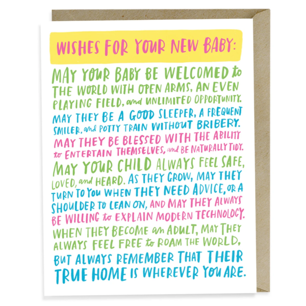 Emily McDowell Card | New Baby Wishes