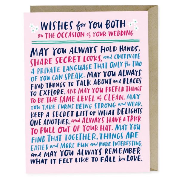 Emily McDowell Card | Wedding Wishes