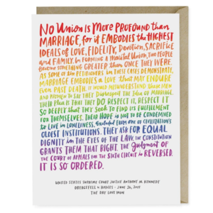 Emily McDowell Card | Love Wins