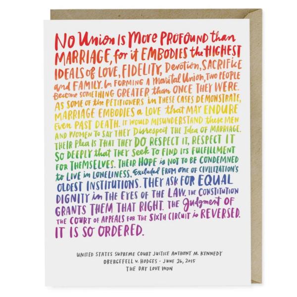 Emily McDowell Card | Love Wins