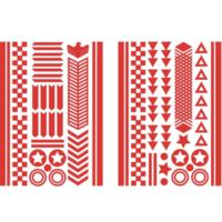 Bike Reflector Stickers | Red