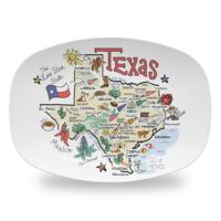 Fish Kiss Platter | Texas Map