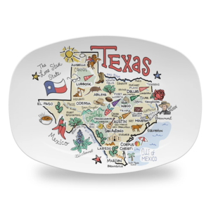 Fish Kiss Platter | Texas Map