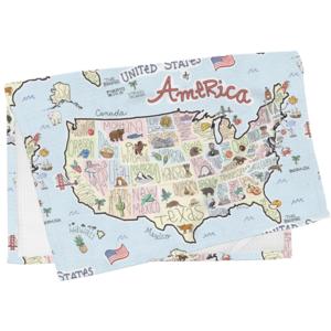 Fish Kiss Tea Towel | America Map