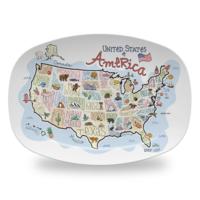 Fish Kiss Platter | America Map