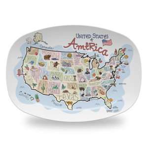 Fish Kiss Platter | America Map