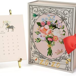 Karen Adams Designs Desk Calendar | 2020 | Gold Easel