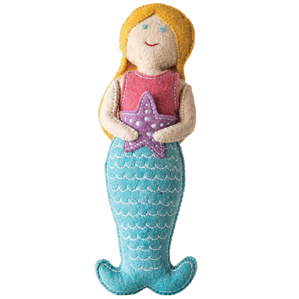 Creative Co-Op Tooth Fairy Pillow | Mermaid