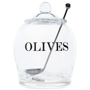 Creative Co-Op Olive Jar | Glass + Spoon