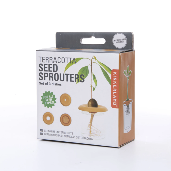 Kikkerland Seed Sprouters | Terracotta