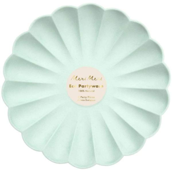 Meri Meri Plates   Simply Eco Mint   Large