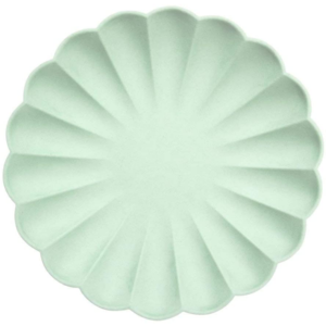 Meri Meri Plates | Simply Eco Mint | Large