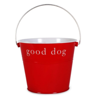 Harry Barker Dog Bucket   Good Dog   Red