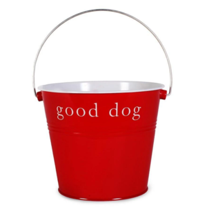 Harry Barker Dog Bucket | Good Dog | Red
