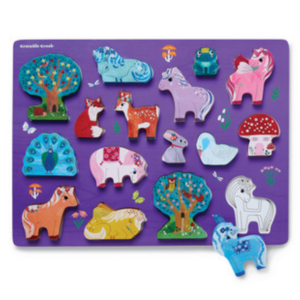Crocodile Creek Wood Puzzle | 16pc | Unicorn Garden