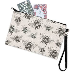 Counter Couture Bag Zip Pouch | Bees | Large