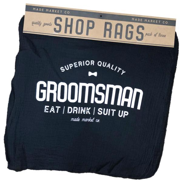 Made Market Co Shop Rag   Groomsman