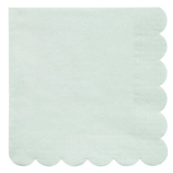 Meri Meri Napkins | Simply Eco | Mint | Small