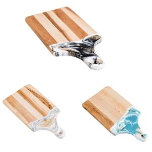 Lynn & Liana Serveware Cheeseboard | Marbled Handle
