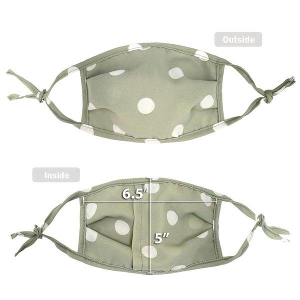 RKAPPAREL Face Mask + Filter Pocket | Olive Dot