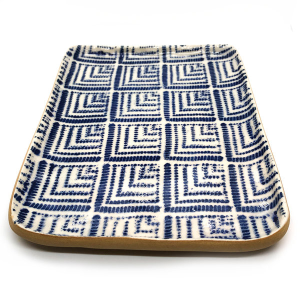 Terrafirma Ceramics Inc. Terrafirma Tidbit Tray | Deco Cobalt