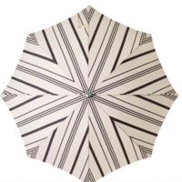 Beach Umbrella | Vintage Black Stripe