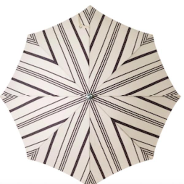 Business & Pleasure Beach Umbrella | Vintage Black Stripe
