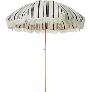 Business & Pleasure Beach Umbrella | Vintage Black Stripe