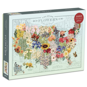 Chronicle Books Puzzle | 1000pc | USA State Flowers