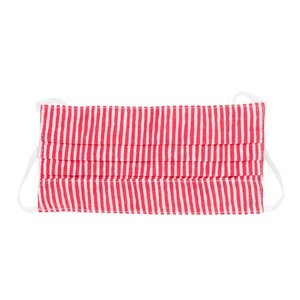 Poppy + Sage Face Mask | Red/White Stripe