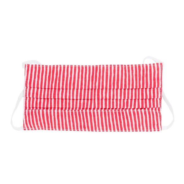 Poppy + Sage Face Mask | Red/White Stripe
