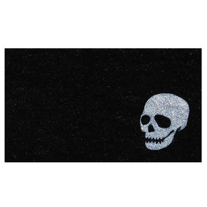 Calloway Mills Doormat | White Skull