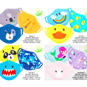Zoocchini Child Face Mask | 3-6 Years | 3-Pack