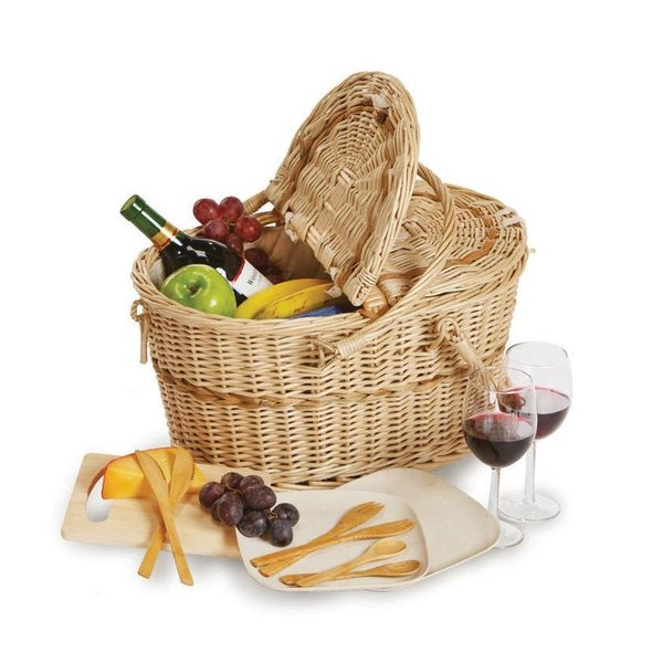 Oak & Olive Picnic Basket   Eco-Friendly   2 Person