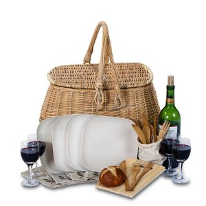 Oak & Olive Picnic Basket | Eco-Friendly | 4 Person