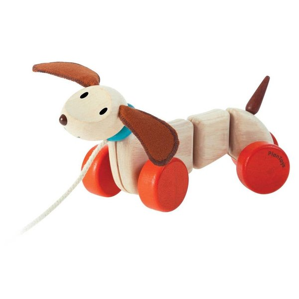 Plan Toys Pull Toy   Happy Puppy