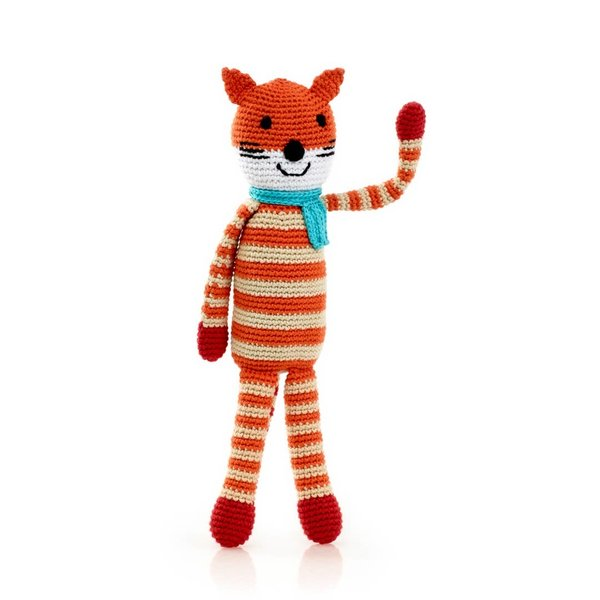 Pebble Crochet Rattle | Fox