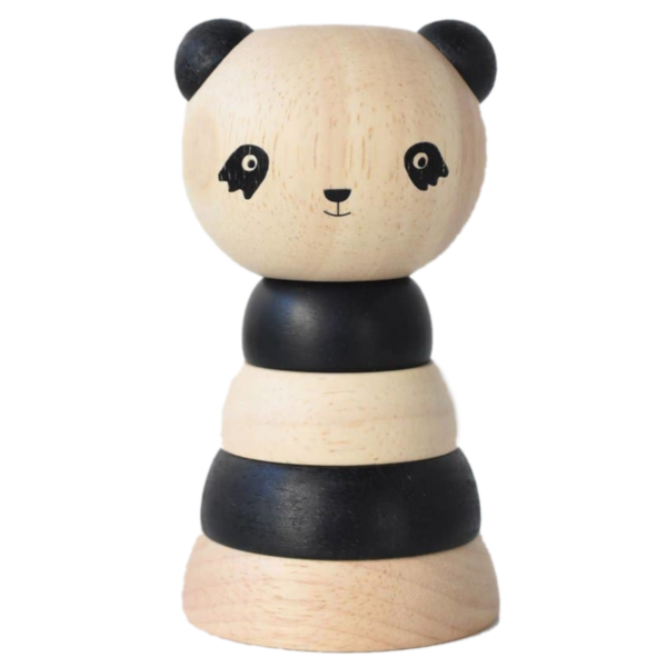 Wee Gallery Wood Stacker | Panda