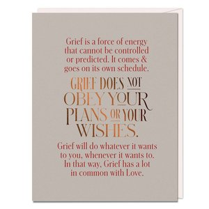 Card | Grief Does not Obey