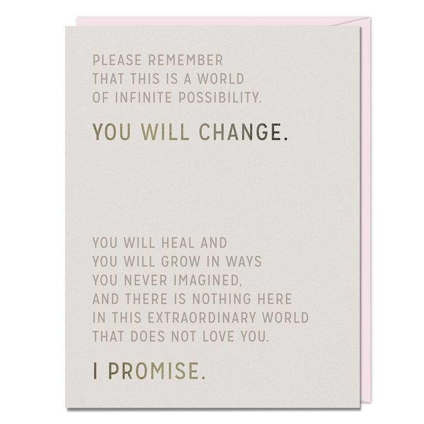 Emily McDowell Card | You Will Change